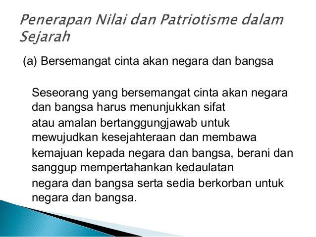 Unsur Unsur Patriotisme Dan Harapan