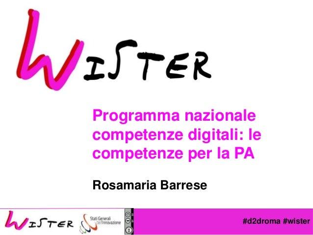 #d2droma #wister Foto di relax design, Flickr Programma nazionale competenze digitali: le competenze per la PA Rosamaria B...