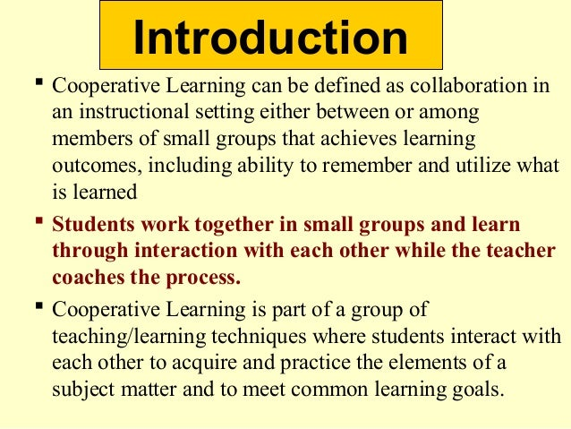 Collaborative Teaching Reaping The Benefits : Cooperative learning in special education