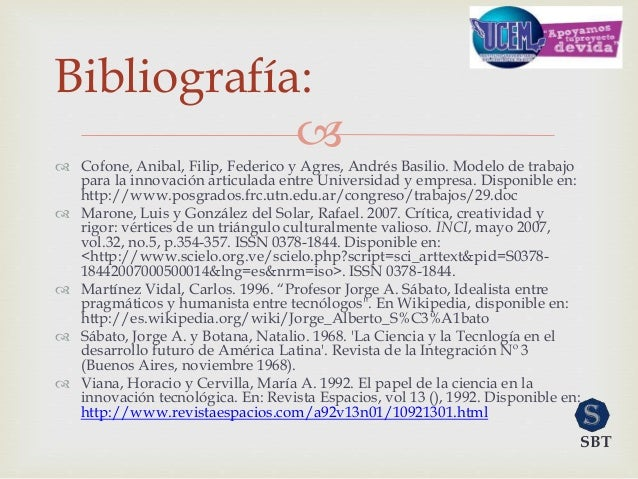   Cofone, Anibal, Filip, Federico y Agres, Andrés Basilio. Modelo de trabajo para la innovación articulada entre Univers...