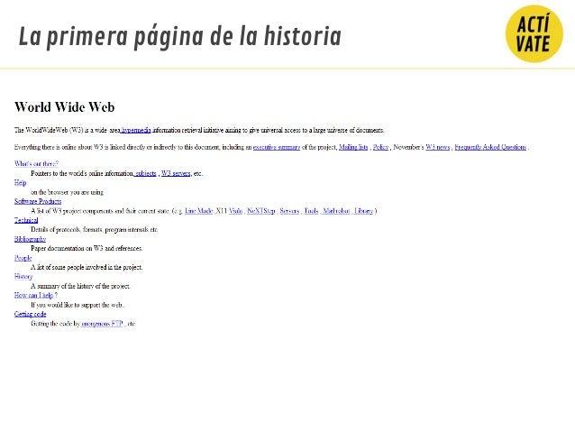 La primera página de la historia