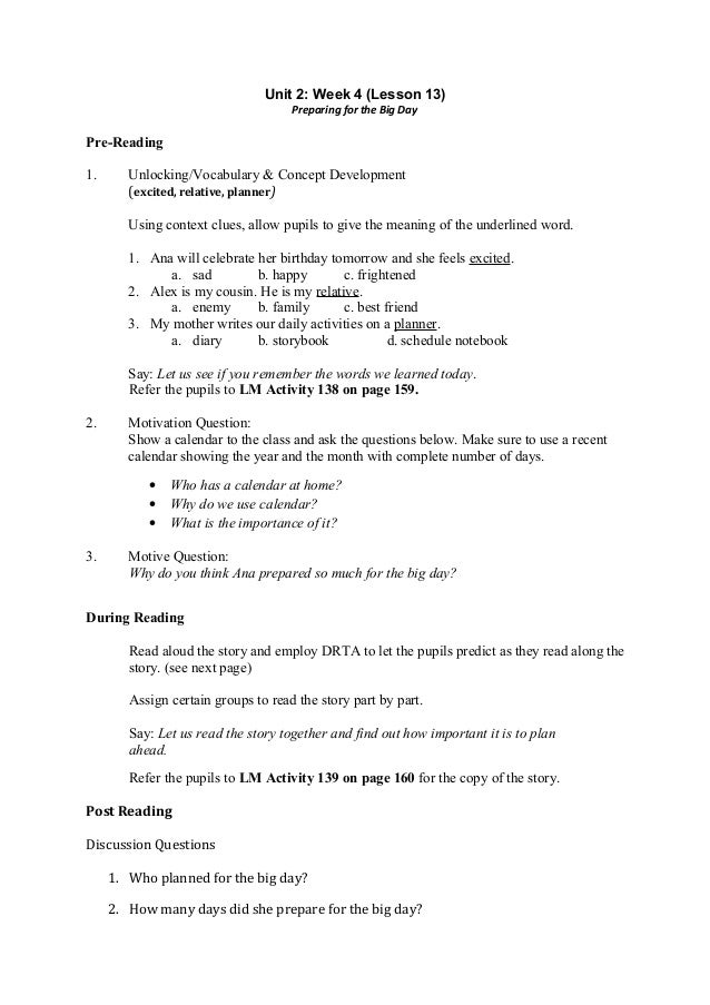 Worksheets Examples Short Story For Grade Three With Exercises 5 english teacher s guide grade 3 2nd quarter