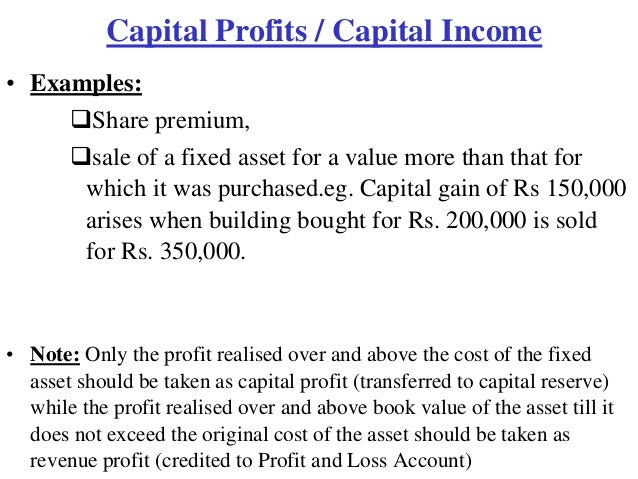 5. Capital and revenue.