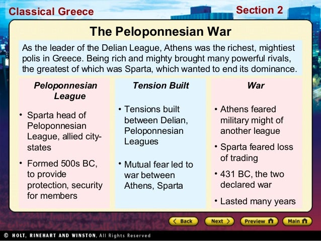 causes of peloponnesian war Peloponnesian war and its aftermath when athens moved the delian league treasury from the island of delos to athens, this was the last straw for the spartans, who decided that the athenians were in violation of the thirty years peace that was between them.