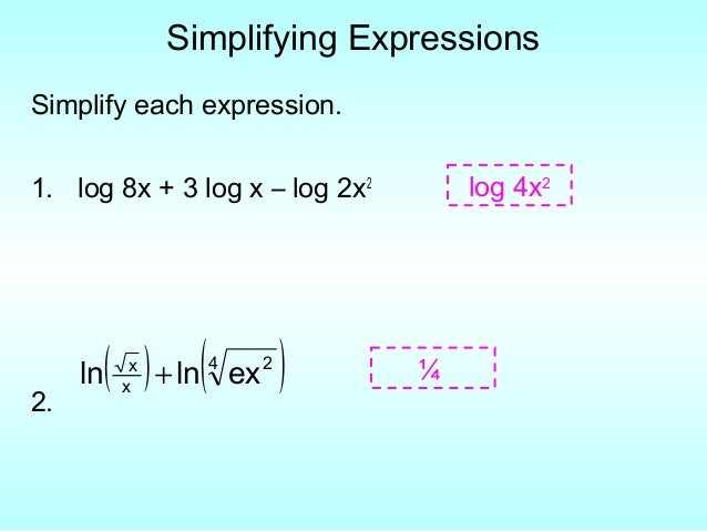 Rewrite as a single logarithm and simplify fractions