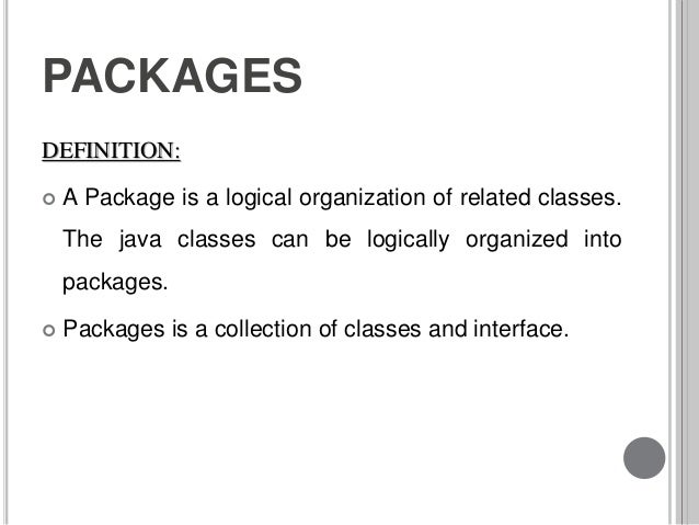 5 interface and packages
