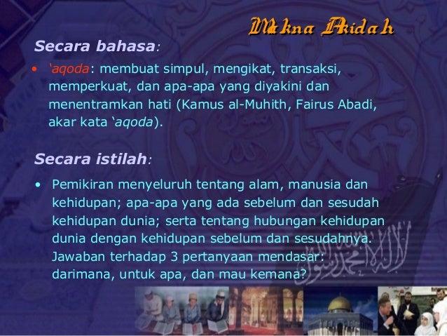 5. aqidah rukun iman Mabda ISLAM Rahmat Kurnia Slide 2