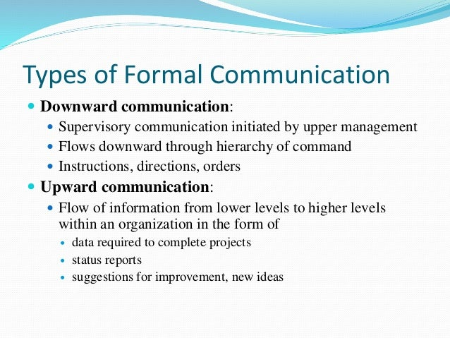 the impact of informal relationships forming within formal organizations Informal communicattion 2/20/2002 3 informal communication in organizations: form, function, and technology most of the work that people do in organizations requires some degree of active.