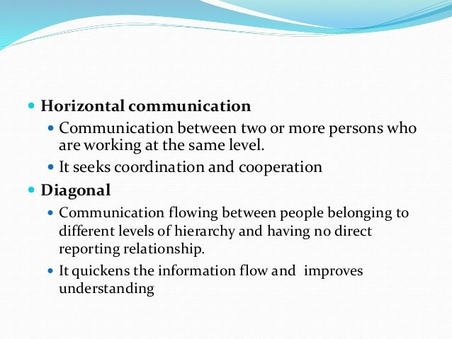 Communication Flows in an Organization