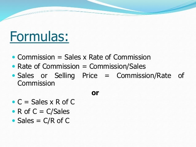 calculating real estate commission