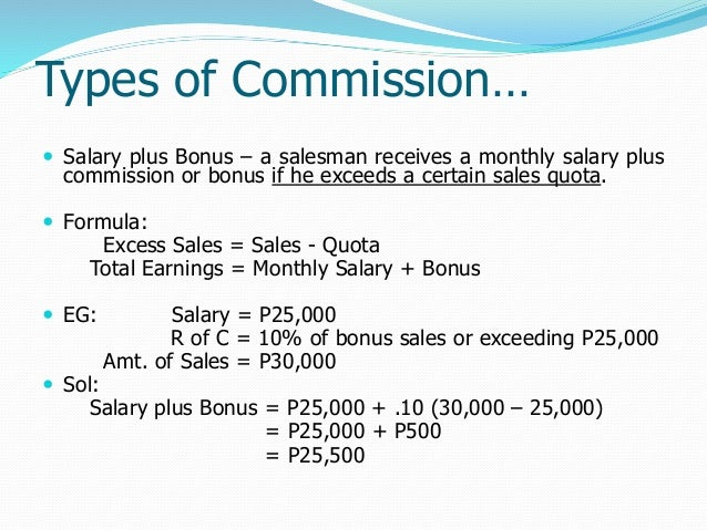 how to find the commision maths