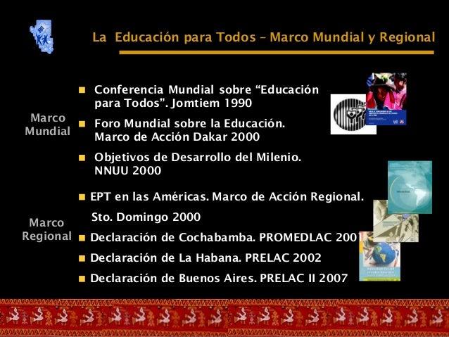 EL PLAN NACIONAL DE   EDUCACIÓN PARA TODOS  2005 – 2015, PERÚ Slide 3