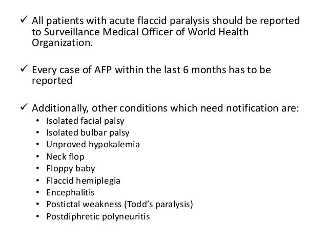 acute flaccid paralysis, Skeleton