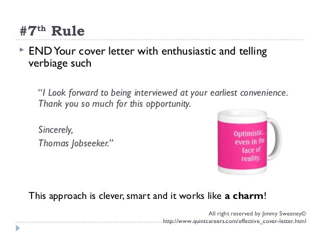 The 7 Elements of a Highly Effective Cover Letter – Quint Careers Cover Letter