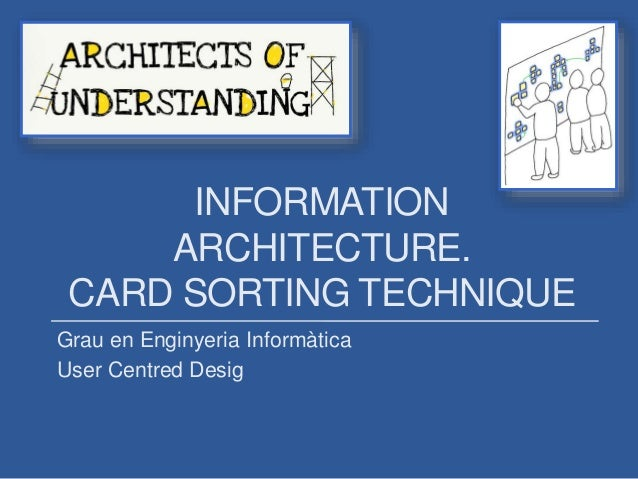 INFORMATION ARCHITECTURE. CARD SORTING TECHNIQUE Grau en Enginyeria Informàtica User Centred Desig