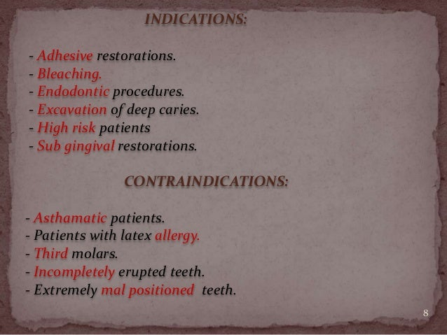 Isolation Of Dental Operating Field