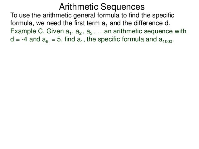5.2 Arithmetic Sequences And Sums