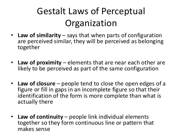 GESTALT LAWS OF ORGANIZATION EPUB