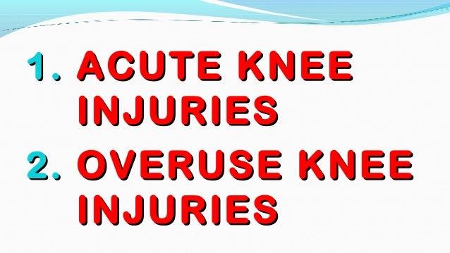 5. knee injuries Slide 3