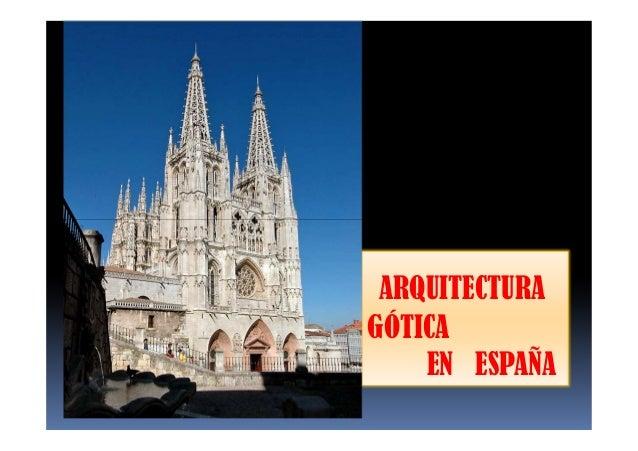 5 2 arquitectura g tica en espa a for Arquitectura de espana