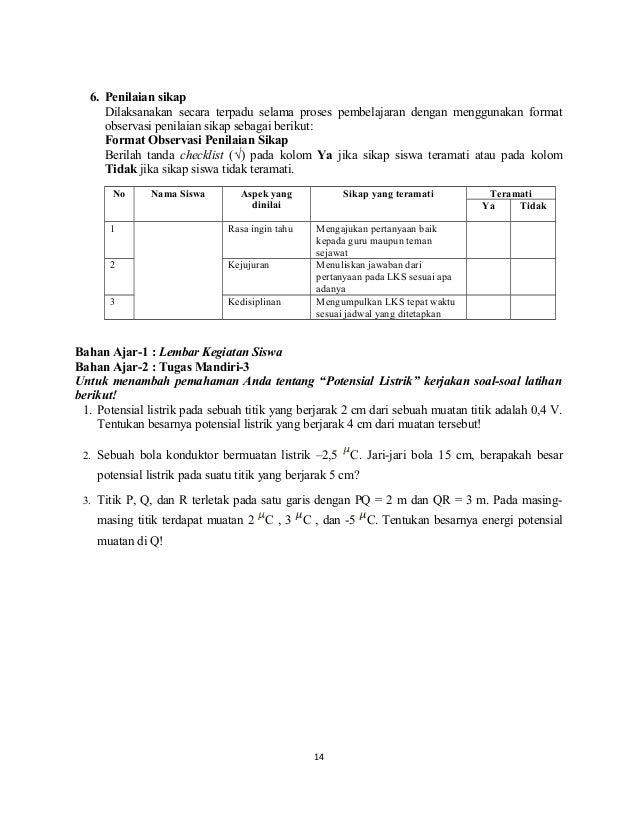 5 Sma Kelas Xii Rpp Kd 3 3 4 3 Listrik Statis Karlina 1308233