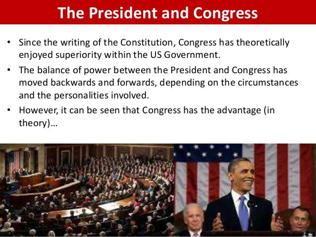 relationship between congress and the executive