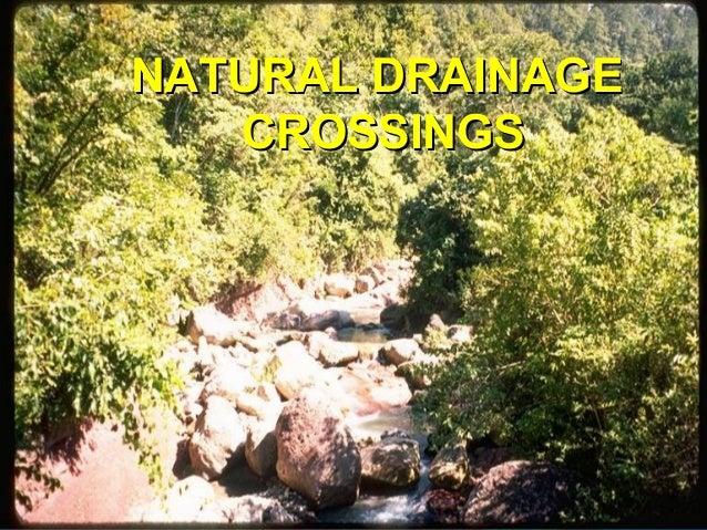 NATURAL DRAINAGENATURAL DRAINAGE CROSSINGSCROSSINGS