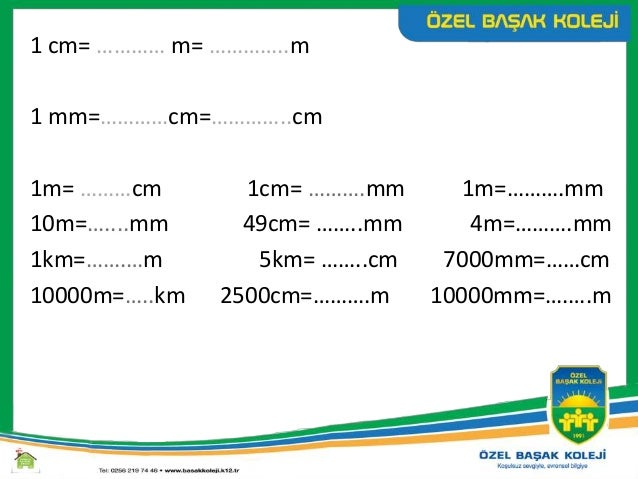 125 m km 12m km 83 cm m 2mm m
