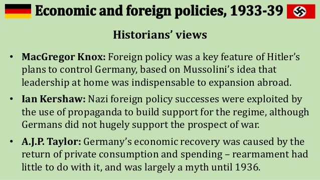 nazi foreign policy was the primary Learn and revise about hitler's foreign policy for wjec unit 2 germany in transition with bbc bitesize  foreign policy aims hitler had three main aims in his foreign policy:.