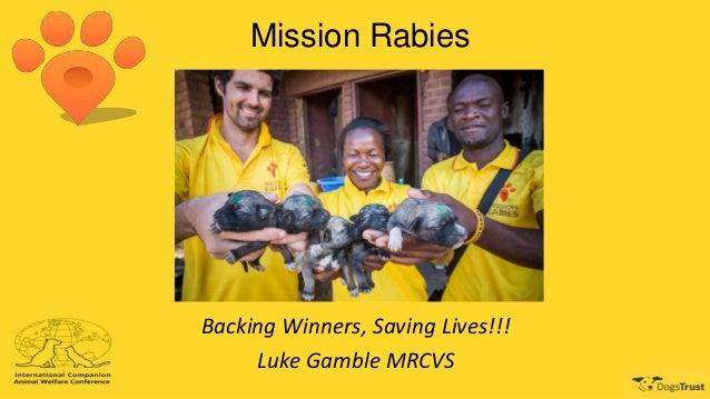 Mission Rabies Backing Winners, Saving Lives!!! Luke Gamble MRCVS