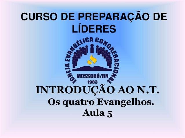CURSO DE PREPARAÇÃO DE LÍDERES INTRODUÇÃO AO N.T. Os quatro Evangelhos. Aula 5