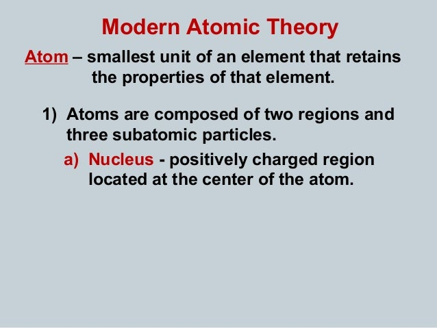 a discussion about the modern atom model The modern atomic theory states that: development of the modern atomic theory philosophy essay print reference this published it justified this model of the atom because the law states that the atomic number of an element is also the exact number of positive charges in the central.
