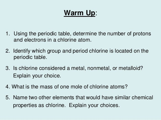 using the periodic table determine the number of protons and history