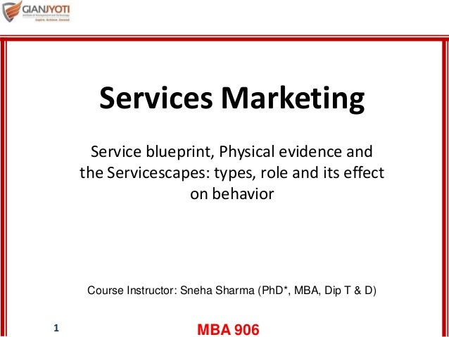 types of physical evidence in service marketing