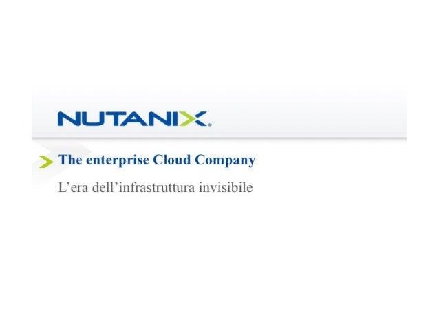 Nutanix, the enterprise Cloud company