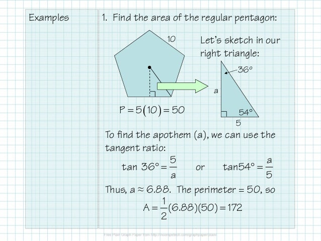 how to find the volume of a regular polygon