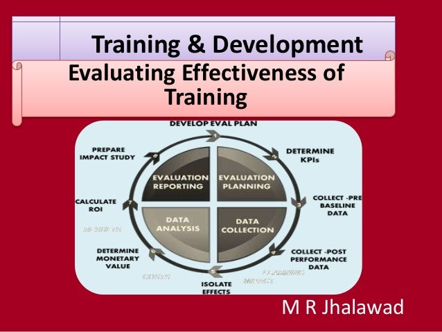 Training & Development Evaluating Effectiveness of Training M R Jhalawad