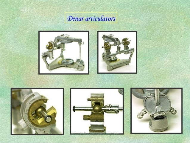 Straight Line Articulator : Articulators dental courses
