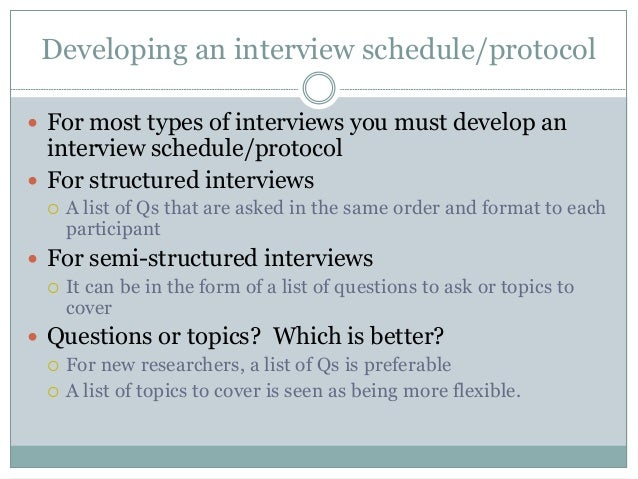 types of interview in research methodology