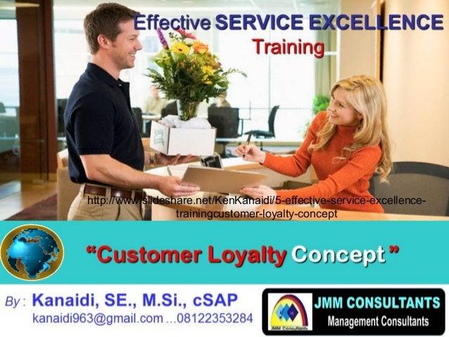 """""CustomerCustomer LoyaltyLoyalty ConceptConcept """" By : Kanaidi, SE., M.Si., cSAP kanaidi963@gmail.com ...08122353284 Eff..."