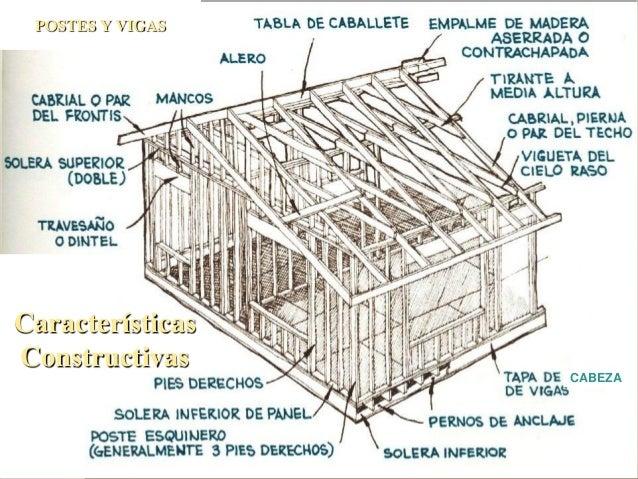 Madera sist estruct de entramado - Postes de madera ...
