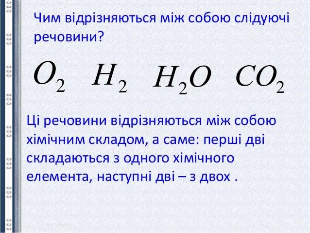Чим відрізняються між собою слідуючі речовини? 2О 2Н ОН2 2СО Ці речовини відрізняються між собою хімічним складом, а саме:...