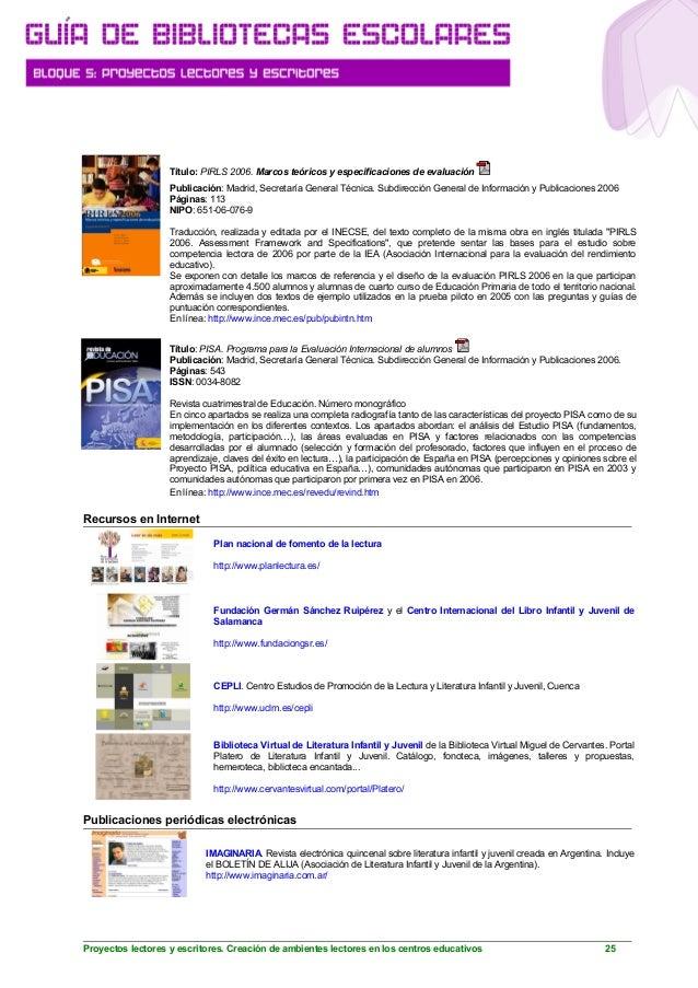 Gu a bibliotecas escolares 5 proyectos lectores y for Junta de andalucia educacion oficina virtual