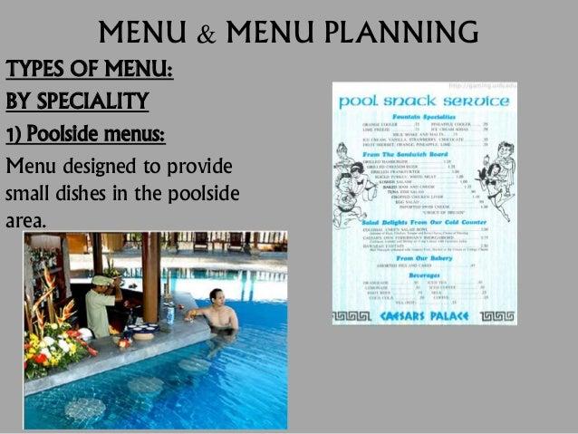 Menu its types and menu planning - Define poolside ...