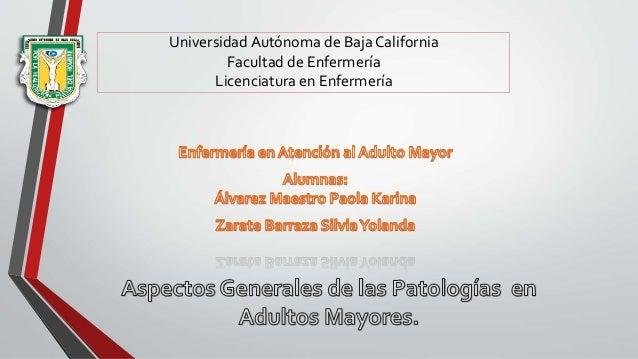 Universidad Autónoma de Baja California Facultad de Enfermería Licenciatura en Enfermería