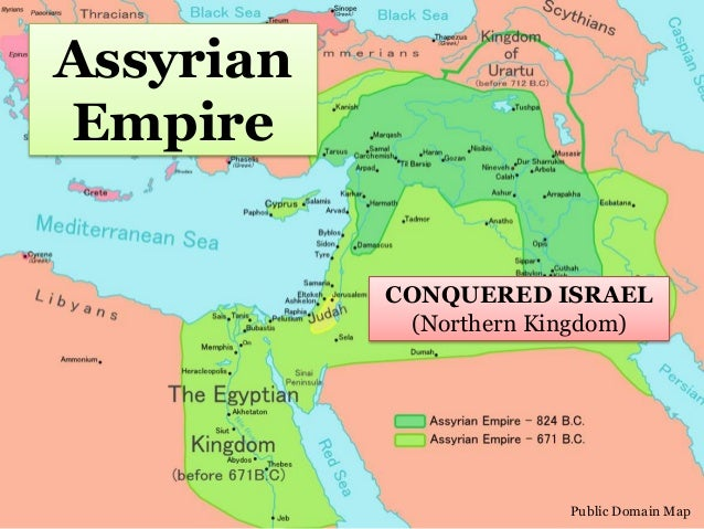 Ancient israel division and diaspora 587 bc 9 assyrian empire public domain map conquered israel gumiabroncs Gallery