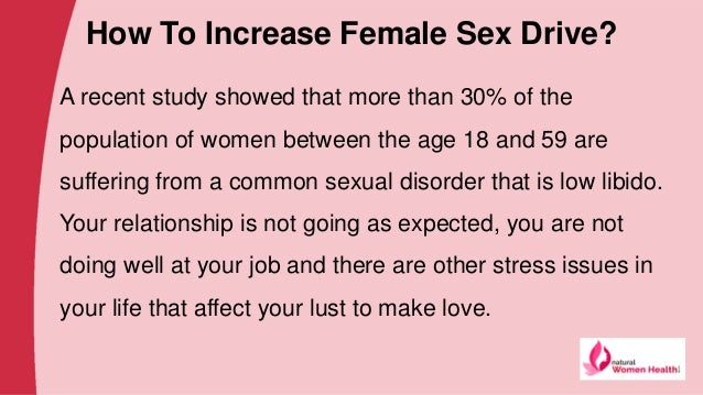 How to increase a woman sex drive