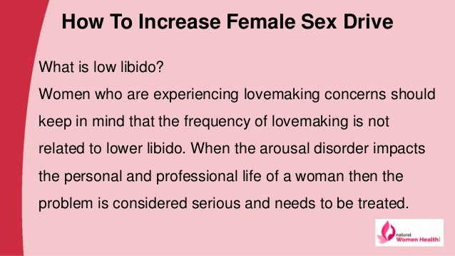 ways to increase female sex drive