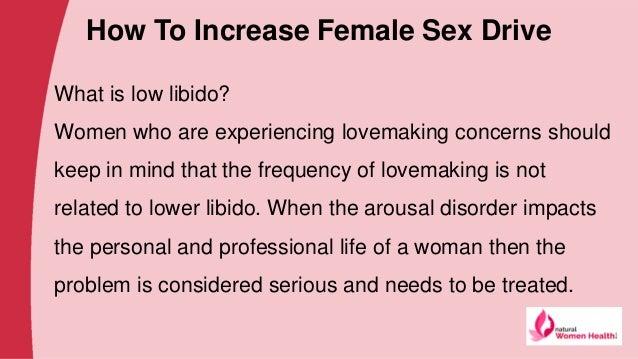 Increasing sex drive in women naturally