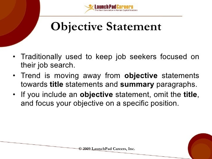 Strong Resume Profile Statements Customer